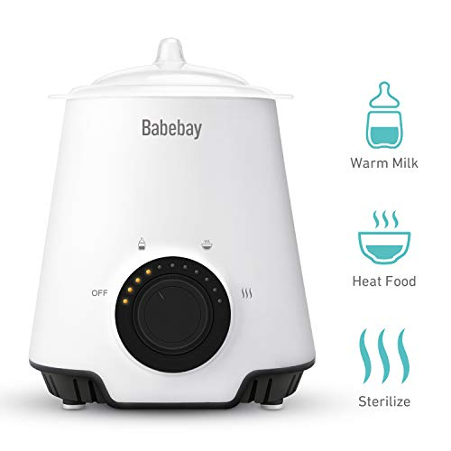 Bottle Warmer, Bottle Steam Sterilizer,3 in 1 Single Baby Bottle Warmer with Evenly Warming Breast Milk or Formula, Accurate Temperature Control,Baby Food Heater …