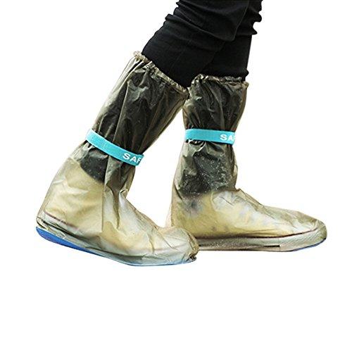 sourcingmap 1 Pair Größe M Blau Schwarz Rutschfest Regen Stiefel Schuhe Abdeckung Schutz Blue, Black