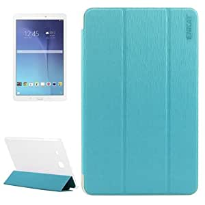 Toothpick Texture PU Leather Translucent & Frosted Plastic Funda Protective Case Cover lápiz para pantalla táctil, Holder para Samsung Galaxy Tab y 9,6 (Blue)