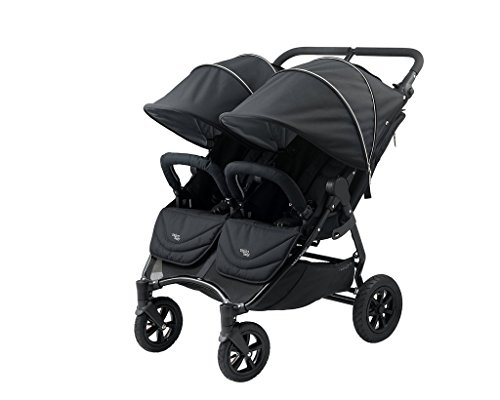Valco Baby Neo Twin Double Lightweight All Terrain Stroller (Night Black)