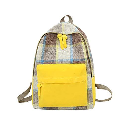Handbags Yellow Junior - Women Canvas Bag Retro Junior High School Student Backpack Yellow