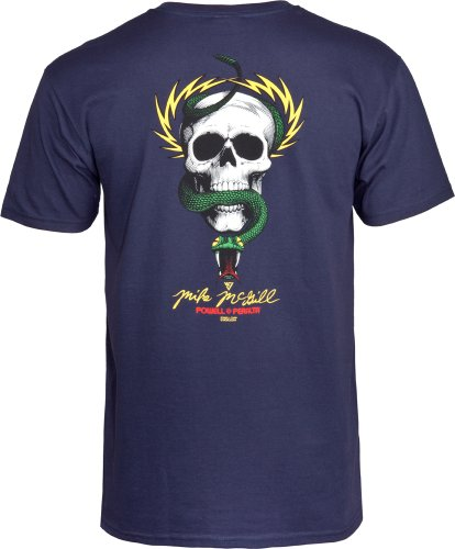 Mcgill T shirt Azul Maikeer And Snake Skull vxaw6