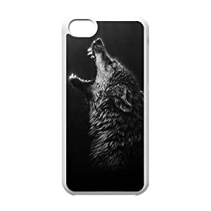Howling Wolf Unique Design Cover Case for Iphone 5C,custom case cover ygtg-803155