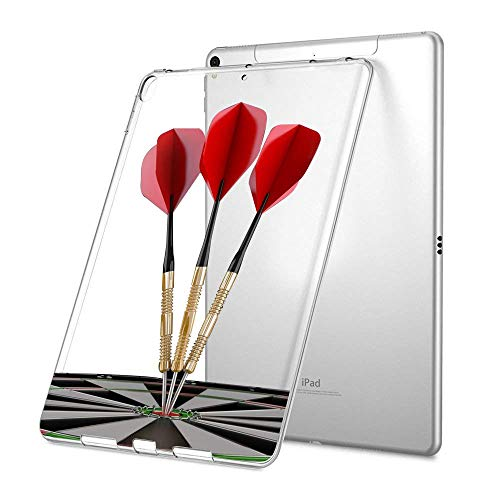 GinHo Customized Protective Cover with Slim Soft Durable TPU Ultra-Clear Silicone UV Printing Case for Darts iPad Pro 9.7 inch 2018 ()