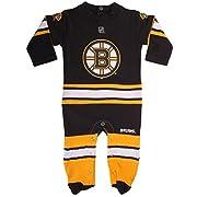 Boston Bruins Newborn Long Sleeve Black Team Logo Coverall (0/3 Months)