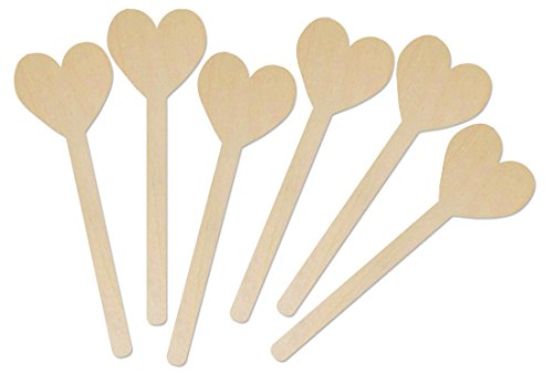 Hygloss Natural Wood Popsicle Sticks - 6.25 Inches Art & Craft Sticks - Heart Shape, 25 Pcs