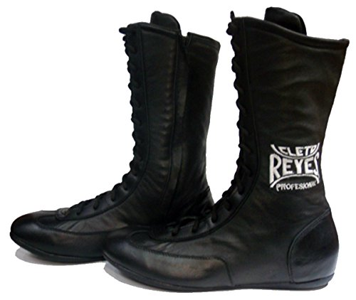 Cleto Reyes Leather Lace Up High Top Boxing Shoes - Size: 11 - Black
