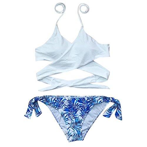 ff36dc207364b LHWY Bikini Damen Push Up, Frauen Push-up gepolsterter BH Split Bikini Set  Bademode