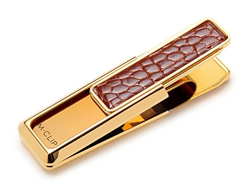 (M-Clip New Yorker Cognac Alligator Money Clip)