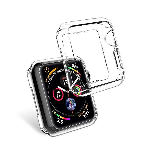 Sandistore Compatible with Apple Watch Case 40mm/44mm Series 4, Soft TPU Screen Protector All-Around Protective 0.3mm HD Clear Ultra-Thin Cover Case for iWatch Series4 40mm/44mm (40mm) by Sandistore Sport (Image #1)