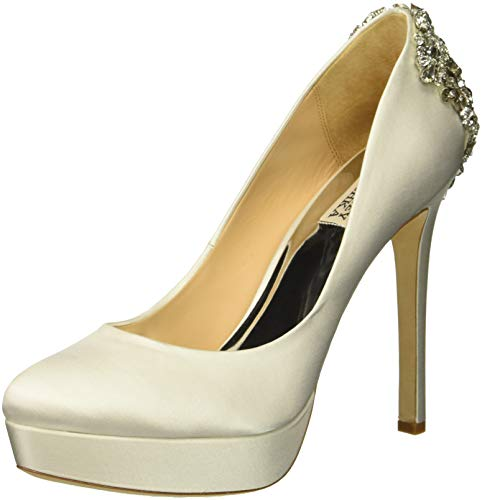 Badgley Mischka Women's Viola Pump, Soft White Satin, 5.5 M US