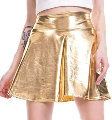 0ea504fcffe1fe BLTR Women Nightclub PU Dance Hipster Swing Splice Ruched Short Skirt