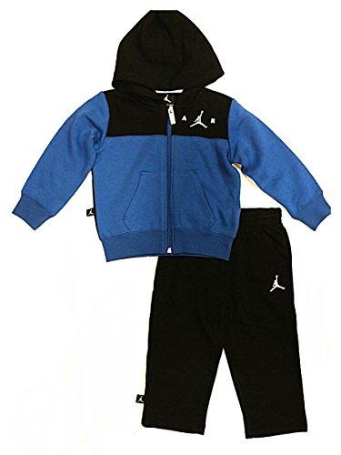 Nike Air Jordan Baby Hooded Sweatsuit - Black/Blue (18