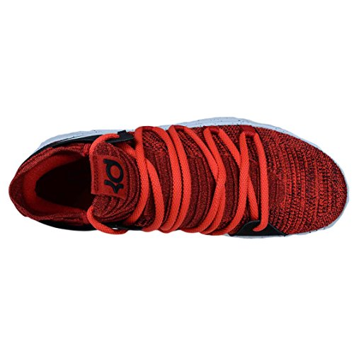84ad8632b4c2 NIKE KD10 RED VELVET BASKETBALL SHOES UNIVERSITY RED PURE PLATINUM 897815  600 chic