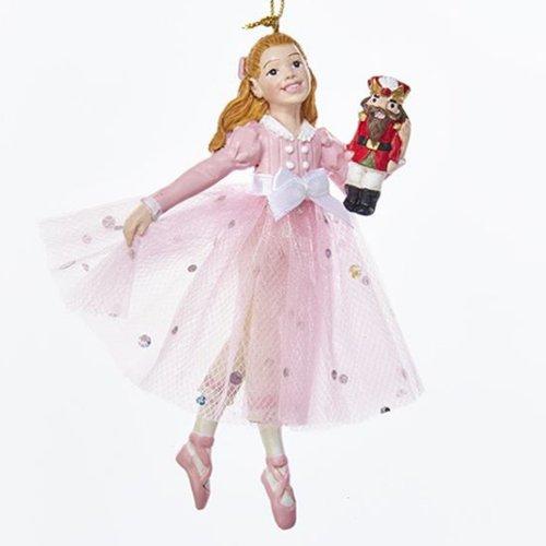 Kurt Adler Pink Clara Christmas Ornament -