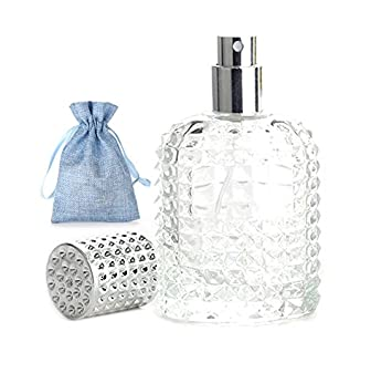 04097bbdffa JJKMALL 50ml Thick Clear Glass Fine Mist Spray Scent Aftershave Luxury  Perfume Bottle Empty Atomizer Bottle
