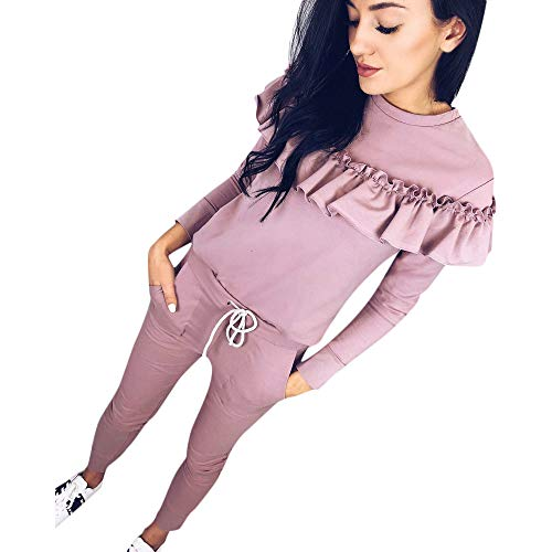Sweatsuit Shirt Pants - kaifongfu 2 Piece Set Suits,Tracksuit Women Pant Sweatsuits Printing Suits Clothing Set (XL, 1-Pink)