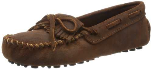 Minnetonka Women's Kilty Driving Moccasin,Brown Ruff,8.5 M US (Womens Brown Moccasins)