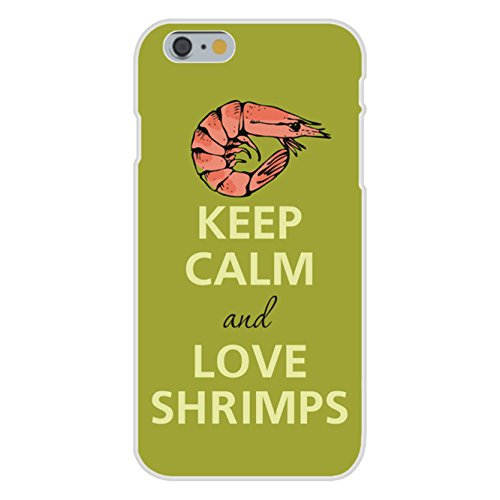 - Apple iPhone 6+ (Plus) Custom Case White Plastic Snap On - Keep Calm and Love Shrimps