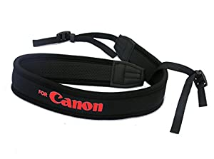 Rainbowimaging NSC Anti-Slip Elastic Neoprene Neck Strap for Canon DSLRs (Black)
