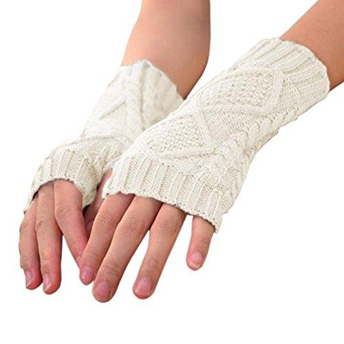 見せます悲惨教養があるwlgreatsp 女子 フィンガーレス 素敵な手袋 冬の暖かい ニットミトン