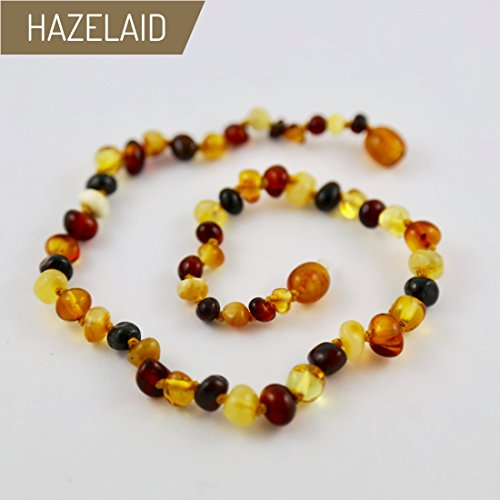 Hazelaid (TM) 12'' Baltic Amber Multicolored Round Necklace by Hazelaid