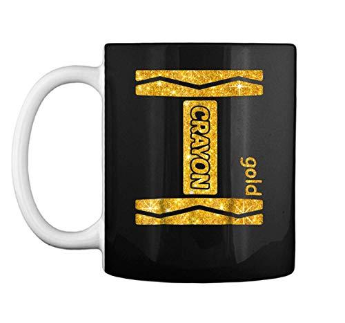 Gold Crayon Halloween Couple Friend Group Costume Mug Coffee Mug (White, 11 oz) -