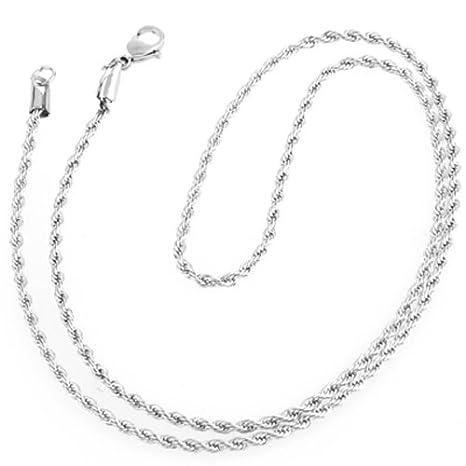 Ecloud Shop Collar Cadena en Acero inoxidable para Hombre ...