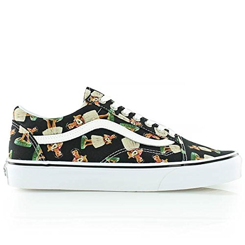 Vans Unisex Old Skool Digi Hula Skate Shoes-Black/True (Vans Girls Skateboard Shoe)