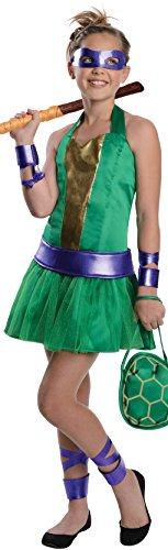 [Teenage Mutant Ninja Turtles Sassy Tween Girl's Donatello Costume, Small] (Sassy Ninja Turtle Costumes)