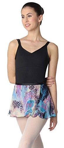 Danshuz Women's Leopard Feather Print Dance Skirt (Pet/SM)