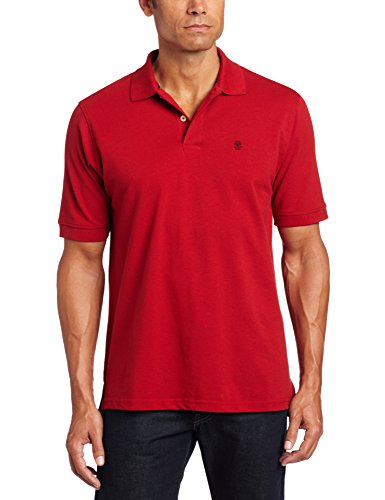 IZOD Men's Heritage Solid Pique Polo, Real Red, X-Large (Polo Izod Golf)