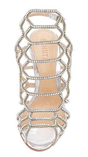 Reva Sandalo Donne Vestito Delle Schutz Cristal Platina R1Hf55qwpn