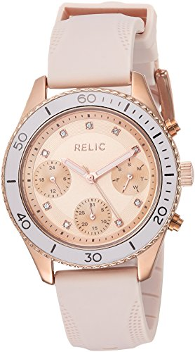 - Relic by Fossil Women's Jean Japanese-Quartz Watch with Silicone Strap, Pink, 18: ((Model: ZR12556))