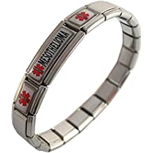 Mesothelioma ID Alert Italian Charm Bracelet