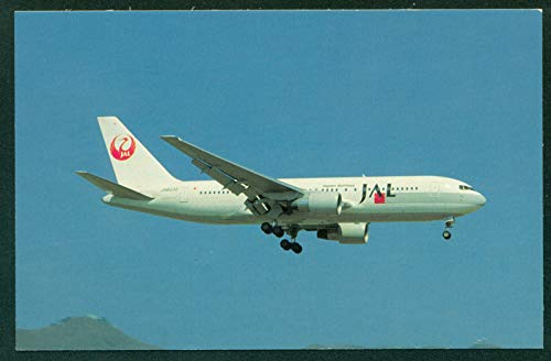 Japan Airlines Boeing 767 Aircraft Kai Tak Airport Hong Kong Airplane Postcard