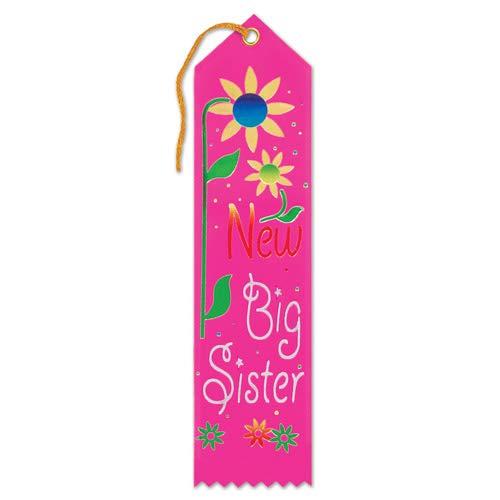 Beistle New Big Sister Award Ribbon