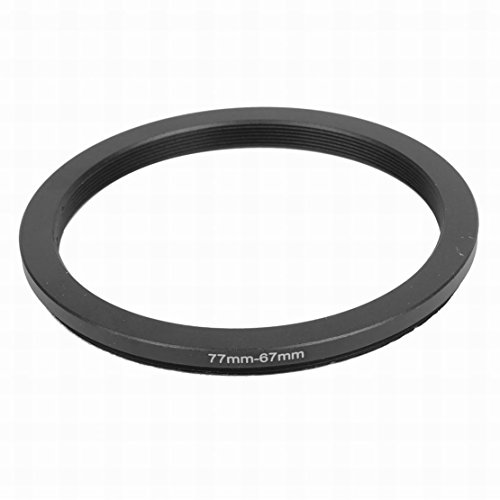 [해외]MariaP 77mm-67mm DSLR 카메라 용 77mm ~ 67mm 스텝 다운 링 어댑터 블랙/MariaP 77mm-67mm 77mm to 67mm Step Down Ring Adapter Black for DSLR Camera