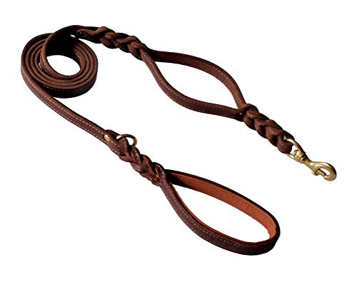 kgt Genuine Leather Braided Leashes