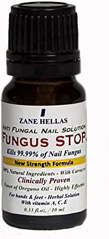 Fungus Stop. Kill 99.9% of nail fungus. Anti fungal Nail Solution. Toenails & Fingernails Solution. 0.33 oz - 10 ml