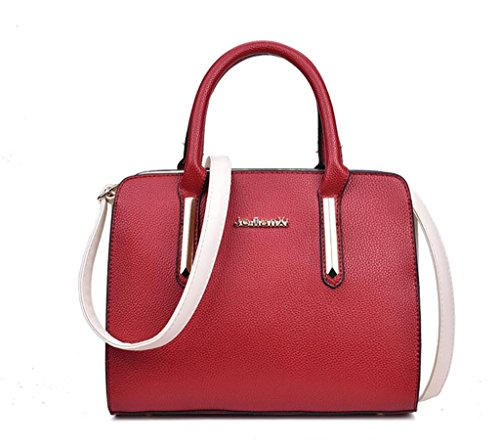 Hombro Litchi Bag Grain Work Turismo Colores Grey Red Femenino Shopping La De Ocio Pu Bolso Solo 5 Cuero Shoutibao Messenger B76IqPYZxw