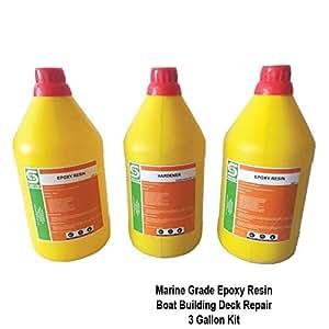 Amazon com : Marine Grade UV Resistant Epoxy Resin Clear Non