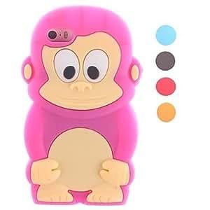 TY-Pequeño mono lindo está diseñado caso suave de silicona para iphone 4/4s (colores surtidos)