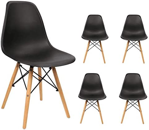 Devoko Modern Style Dining Chairs Mid Century Pre Assembled DSW Chair Classic Shell Lounge Plastic Side Chairs