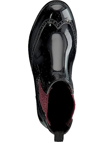 Gosch ShoesGosch Shoes Sylt Damen Chelsea 7100-501 - Botas de agua Mujer black-bordeaux