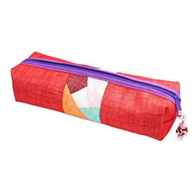 Amazon.com: Hermoso patrón rojo bolsa hecha de tela de ...