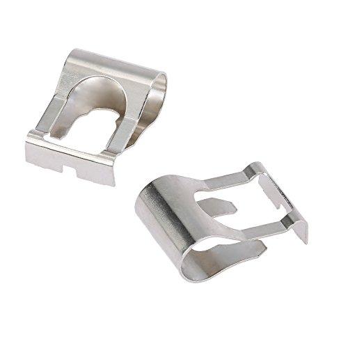 (Walmeck Pair of Windscreen Wiper Motor Linkage Rods Arms Link Mechanism Repair Clip Kit)