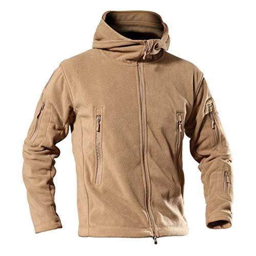 (WELCOMEUNI Bomber Coat of The Coating of Men Military Tactician Jacket Pile Uniform Soft Handbags Windbreaker Orange)