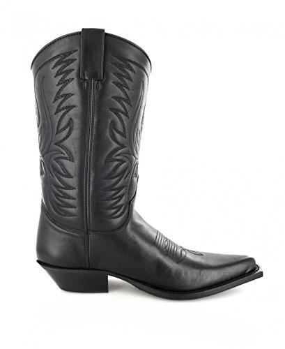 Fashion Boots BU1007 Schwarz Damen & Herren Westernstiefel