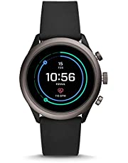 Fossil Mens Smartwatch with Silicone Strap